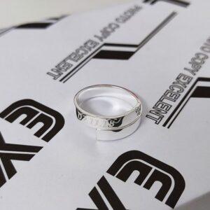 Nhẫn bạc khắc chữ theo yêu cầu Về Chung Đôi