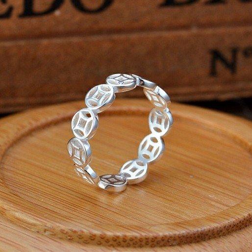 Nhẫn bạc kim tiền