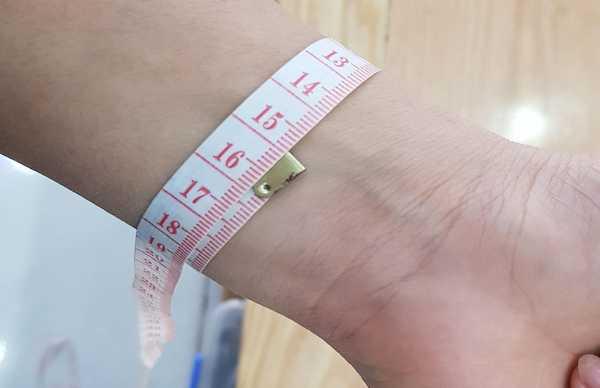 cách đo cổ tay
